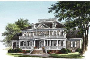Classical Exterior - Front Elevation Plan #137-328