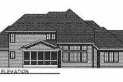 European Style House Plan - 4 Beds 3.5 Baths 2750 Sq/Ft Plan #70-436 Exterior - Rear Elevation