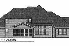 House Plan Design - European Exterior - Rear Elevation Plan #70-436