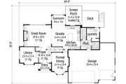 Craftsman Style House Plan - 3 Beds 2.5 Baths 2635 Sq/Ft Plan #51-419 Floor Plan - Main Floor