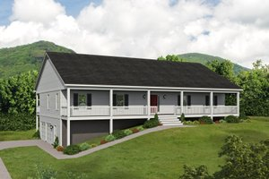 House Blueprint - Traditional Exterior - Front Elevation Plan #932-414
