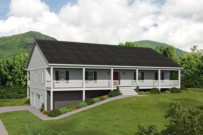 House Plan Design - Traditional Exterior - Front Elevation Plan #932-414