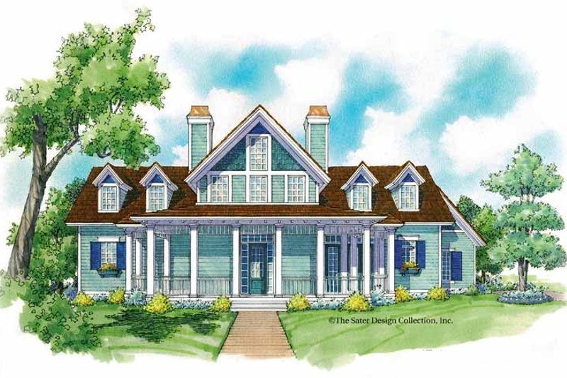 Architectural House Design - Victorian Exterior - Front Elevation Plan #930-213