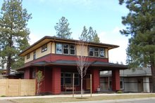 House Plan Design - Prairie Exterior - Front Elevation Plan #434-11