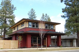 Architectural House Design - Prairie Exterior - Front Elevation Plan #434-11