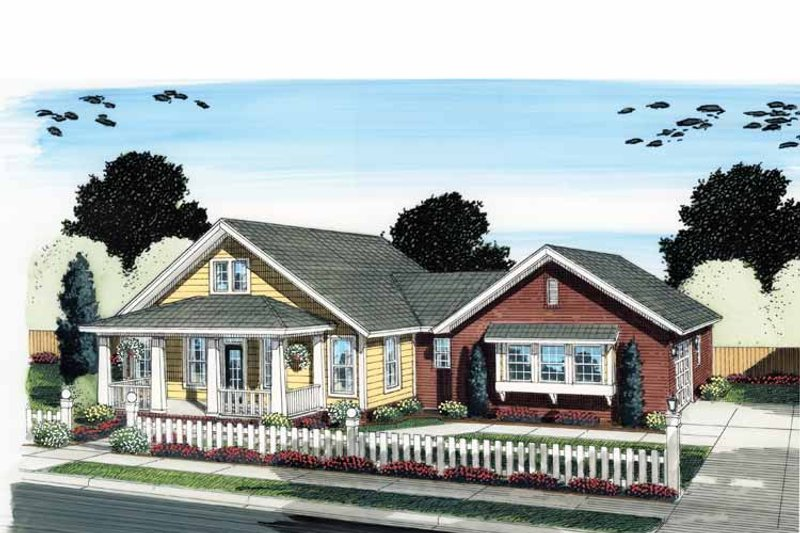 Traditional Exterior - Front Elevation Plan #513-2124 - Houseplans.com
