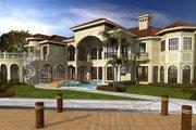 Mediterranean Style House Plan - 7 Beds 8 Baths 10591 Sq/Ft Plan #420-250 Exterior - Rear Elevation
