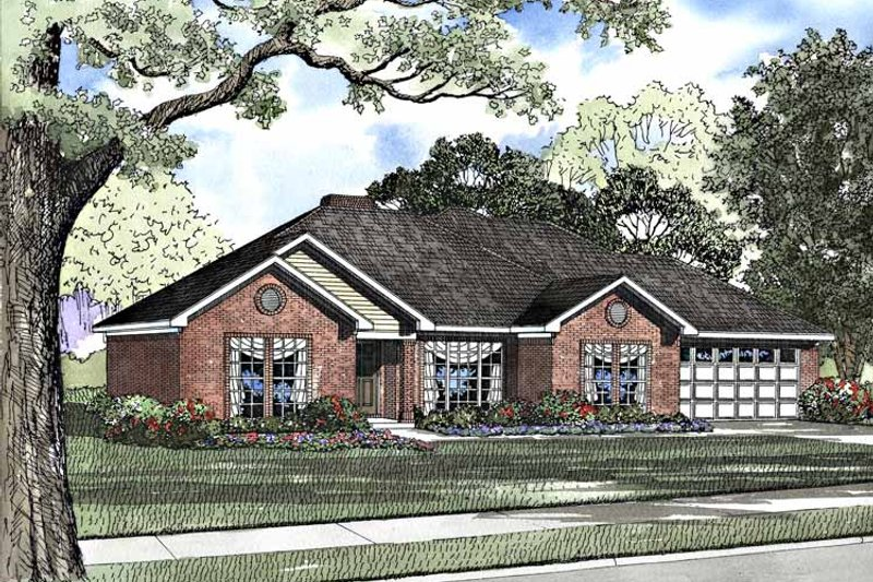 Ranch Exterior - Front Elevation Plan #17-2953