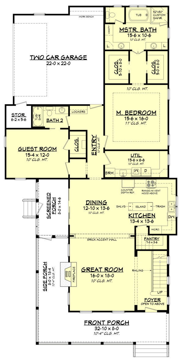 Farmhouse Floor Plan - Main Floor Plan Plan #1067-5