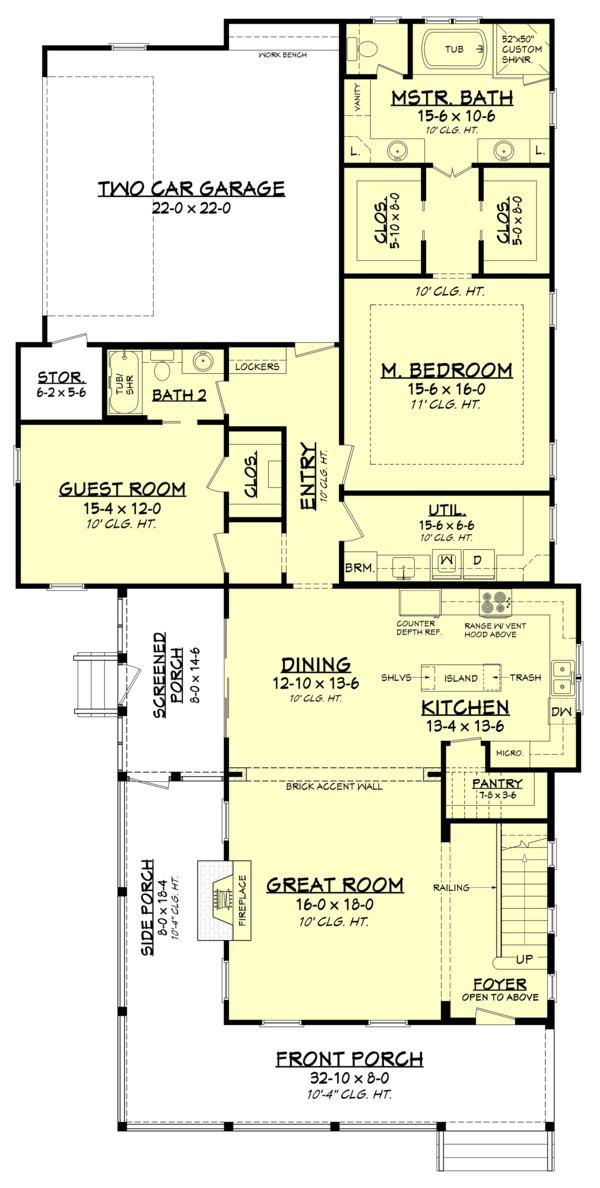 House Design - Farmhouse Floor Plan - Main Floor Plan #1067-5