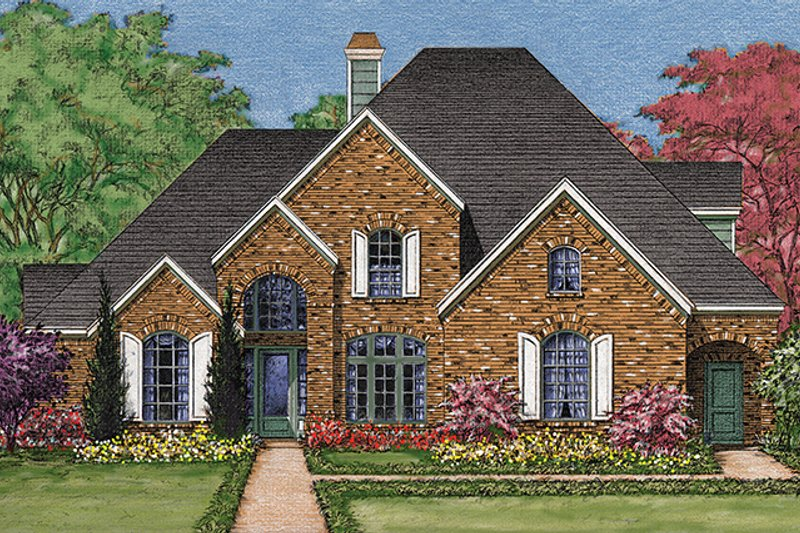 House Plan Design - European Exterior - Front Elevation Plan #1021-10