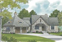 Architectural House Design - Craftsman Exterior - Front Elevation Plan #453-578