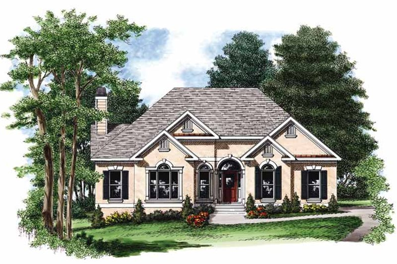 Mediterranean style house plan 3 beds 2 baths 1756 sq ft for 680 square feet house plan