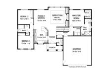 Ranch Floor Plan - Main Floor Plan Plan #1010-44
