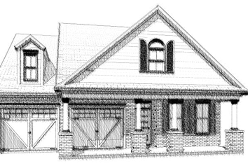 Craftsman Style House Plan - 3 Beds 2 Baths 1743 Sq/Ft Plan #63-276 Exterior - Front Elevation