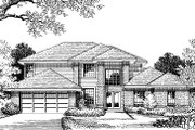 European Style House Plan - 4 Beds 2.5 Baths 2335 Sq/Ft Plan #417-241 Exterior - Other Elevation