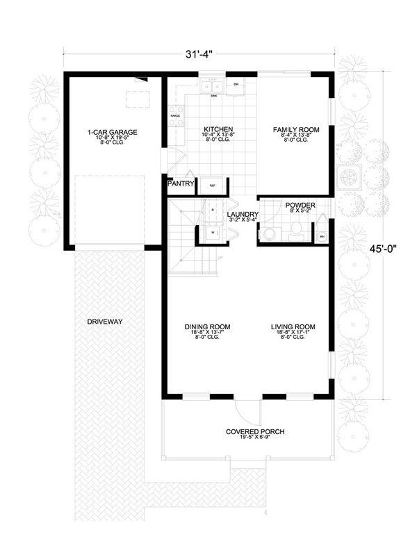 Southern Floor Plan - Main Floor Plan #420-221