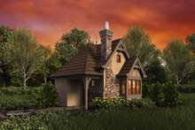 Architectural House Design - Front view - 300 square foot Cottage