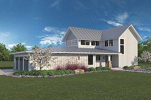 Architectural House Design - Farmhouse Exterior - Front Elevation Plan #1068-1
