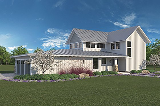 Home Plan - Farmhouse Exterior - Front Elevation Plan #1068-1