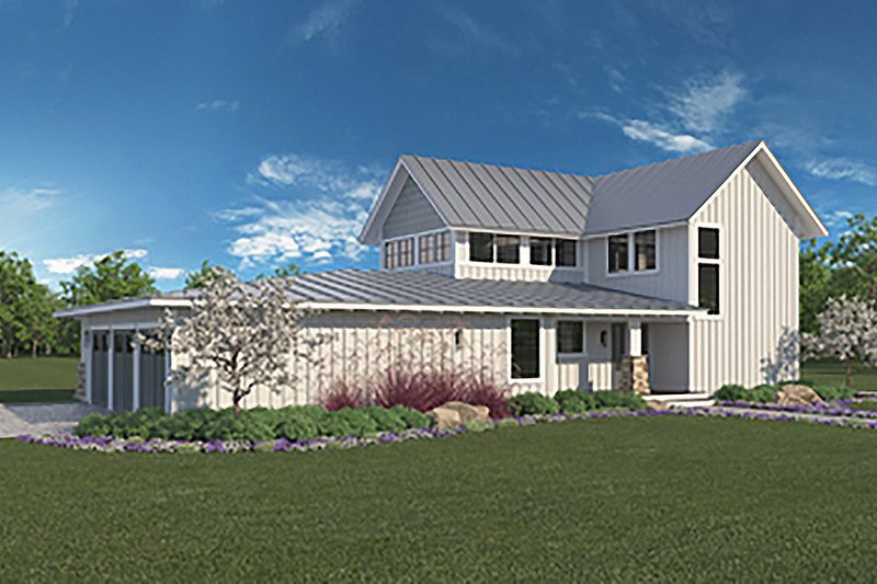 Dream House Plan - Farmhouse Exterior - Front Elevation Plan #1068-1