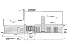 Colonial Exterior - Rear Elevation Plan #3-156