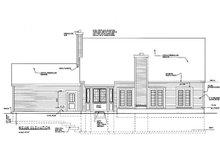 Dream House Plan - Colonial Exterior - Rear Elevation Plan #3-156