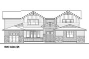 Craftsman Style House Plan - 5 Beds 4 Baths 4177 Sq/Ft Plan #569-41 Exterior - Front Elevation