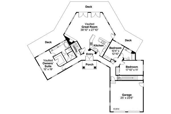 House Plan Design - Ranch Floor Plan - Main Floor Plan #124-952