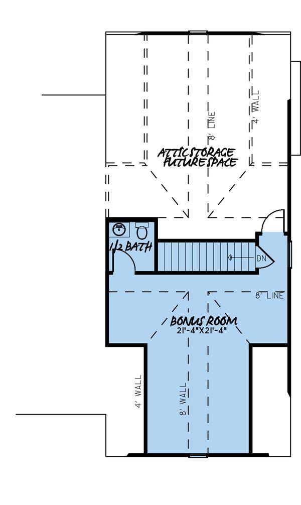 Farmhouse Floor Plan - Upper Floor Plan #923-183