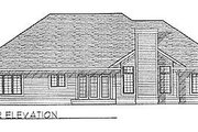 Traditional Style House Plan - 3 Beds 2 Baths 2007 Sq/Ft Plan #70-280 Exterior - Rear Elevation