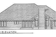 Dream House Plan - Traditional Exterior - Rear Elevation Plan #70-280