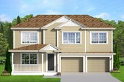 Country Style House Plan - 4 Beds 2.5 Baths 2697 Sq/Ft Plan #1058-203 Exterior - Front Elevation