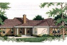 Dream House Plan - European Exterior - Rear Elevation Plan #406-135