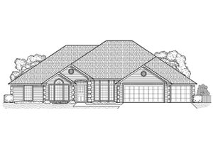Traditional Exterior - Front Elevation Plan #65-191