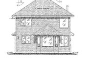 Traditional Style House Plan - 3 Beds 3 Baths 1557 Sq/Ft Plan #18-4254 Exterior - Rear Elevation