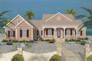 Beach House, Front Elevation