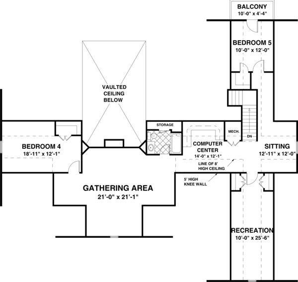 Floor Plan - Other Floor Plan Plan #56-607