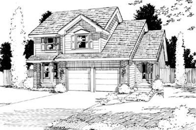 Traditional Exterior - Front Elevation Plan #20-796 - Houseplans.com