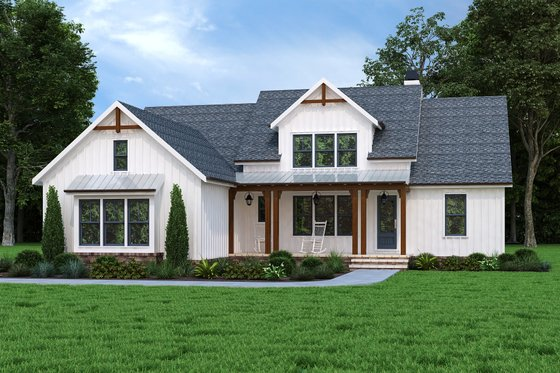 Ranch Exterior - Front Elevation Plan #927-1018