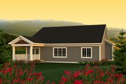 Ranch Style House Plan - 3 Beds 2 Baths 1660 Sq/Ft Plan #70-1162 Exterior - Rear Elevation