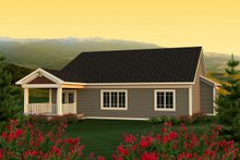 Dream House Plan - Ranch Exterior - Rear Elevation Plan #70-1162