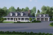 Southern Style House Plan - 3 Beds 2 Baths 1944 Sq/Ft Plan #57-329 Exterior - Front Elevation