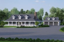 Home Plan - Southern Exterior - Front Elevation Plan #57-329