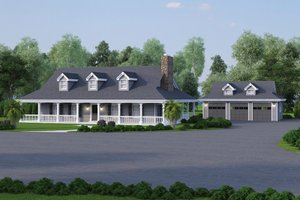 Architectural House Design - Southern Exterior - Front Elevation Plan #57-329
