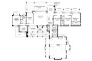 Prairie Style House Plan - 4 Beds 3.5 Baths 3541 Sq/Ft Plan #1058-150 Floor Plan - Main Floor Plan