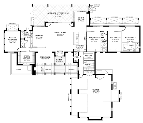 Prairie Floor Plan - Main Floor Plan Plan #1058-150