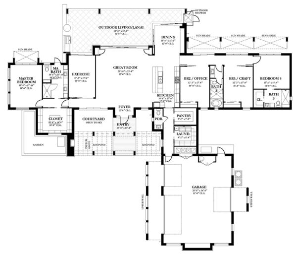 Prairie Floor Plan - Main Floor Plan Plan #1058-150
