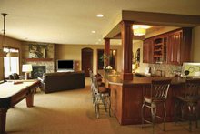 Architectural House Design - Traditional Interior - Family Room Plan #320-990
