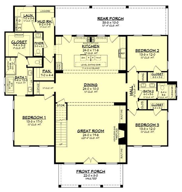 Dream House Plan - Farmhouse Floor Plan - Main Floor Plan #430-259